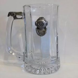 Mark V Glass Mug with Pewter