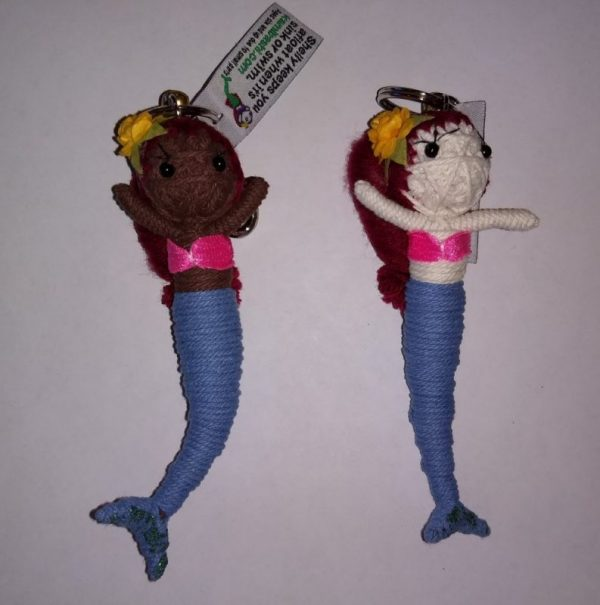Stringdoll Keychain Shelly Mermaid Red Hair