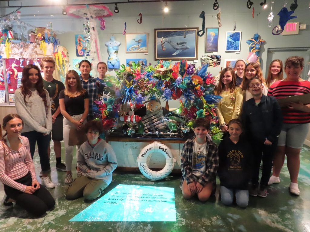 students visiting the museum