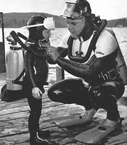 Father and Son Diving Image
